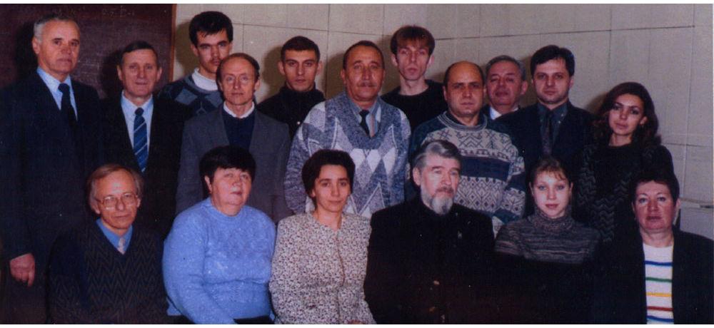 Колектив кафедри «Обчислювальна техніка та системи управління» у 2002 році.