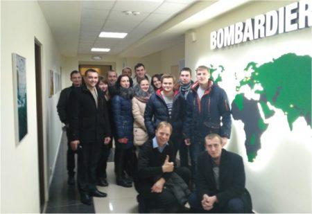 Студенти на екскурсії в українському офісі міжнародної компанії BOMBARDIER TRANSPORTATION