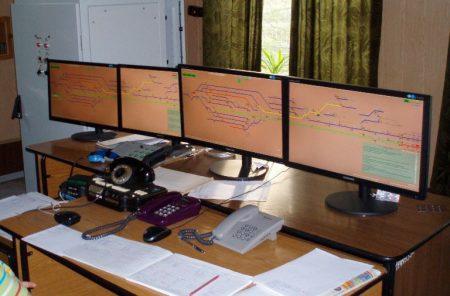 Робоче місце чергового по станції мікропроцесорної системи електричної централізації САТЕП