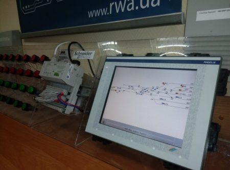 Використання мікропроцесорних контролерів та графічних сенсорних екранів для моделювання роботи залізничної станції