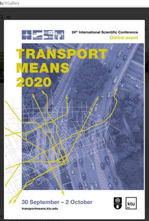 24 Міжнародна наукова конференція TRANSPORT MEANS 2020